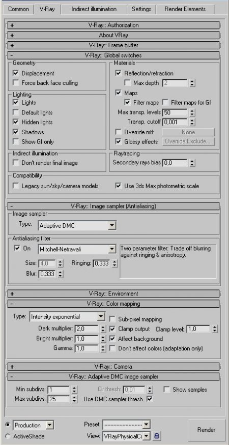 3ds Max. Реалистичная визуализация экстерьера с помощью VRay