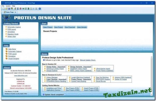 Proteus v.8.9 Professional (SP2) скачать